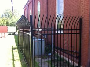 Ornamental steel HVAC fence